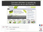 Conference Optimiser les taux de co...