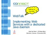 WebTalk - Implementing Web Services...