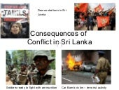 Consequences Of Conflict In Sri Lanka