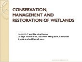 Conservation, management and restor...