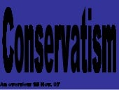 conservatism an overview