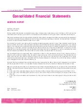 Consolidated financialstatements