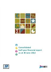 Half‐year financial report as at 30...