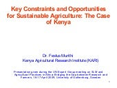 Constraints And Opportunities To Ag...