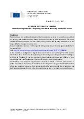 Consultation document en