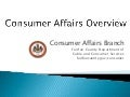 Fairfax County Consumer Affairs: What We Do