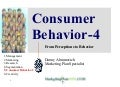 Consumer Bahavior-4 a Marketing Plan prerequisite by www.marketingPlanNOW.com