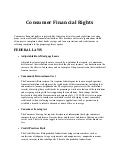 Consumer Financial Rights