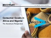 Consumer Goods in Africa and Nigeria