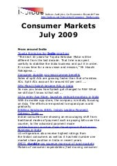 Consumer Markets July 2009