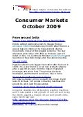 Consumer Markets - October 2009