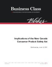 Consumer Product Safety Act, June 2011
