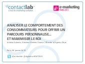 e-marketing Paris 2013 - Analyser l...