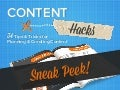 Sneak Peek! Content Marketing Hacks: 34 Tips and Tricks for Planning and Creating Content
