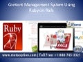 Content management system using ruby on rails