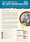 Content Marketing 2013: What Can We Learn From Charles Dickens?