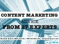 Content Marketing Advice From 27 Experts