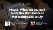 #Meta: What We Learned From Our Own Content Marketing Case Study