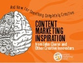 Content Marketing Inspiration From John Cleese And Other Creative Innovators