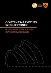 Content marketing world Sydney eboo...