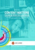 Waggener Edstrom Asia-Pacific CONTENT MATTERS 2014 Research Report - Full