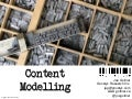 Content Modelling Workshop (J Gollner TC World 2013)