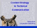Content strategy in Technical Communications