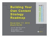 Building Your Own Content Strategy Roadmap