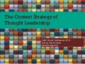 Content Strategy of Thought Leadership