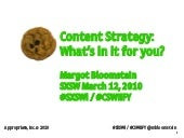 Content Strategy What's in it for y...