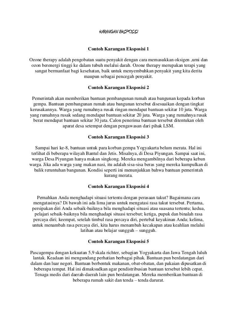 Indonesia - Contoh karangan