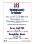 """Building Capacity For Success Flyer"