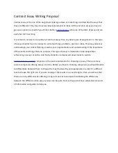contrast essay writing proposal
