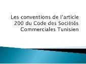 Conventions de l'article 200 du csc