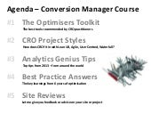 Conversionista : Conversion manager...