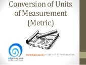 Conversion of metric units