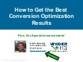 How to Get the Best Conversion Optimization Results