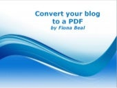Convert your blog to a PDF and a Word file