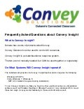 Convey:Insight FAQ( Freqeuntly asked Questions)