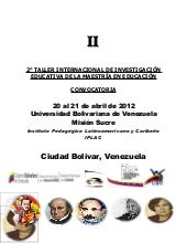 Convocatoria 2° Taller Internacional