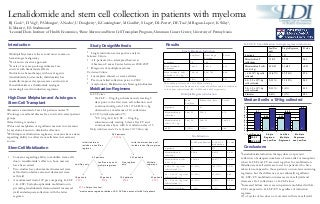 Lenalidomide and Stem Cell Collection in Patients with Myeloma 5.22.08