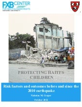 Protecting Haiti's Children: Risk f...