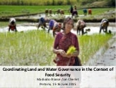 Coordinating land and water governance in the context of food security