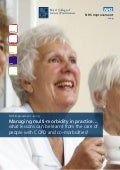 Managing multi-morbidity in practice… what lessons can be learnt from the care of people with COPD and co-morbidities