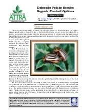 Colorado Potato Beetle: Organic Con...