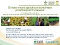 Climate-smart agriculture investment prioritization framework