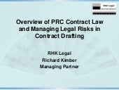 PRC Contract Law Principles and Ris...