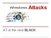Windows attacks - AT is the new black