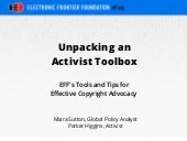 Unpacking an activist toolbox: EFF's tools and tips for effective copyright advocacy
