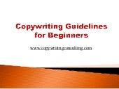 Copywriting Guidelines for Beginners